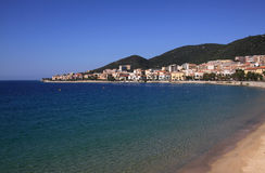 Ajaccio town beach Stock Images