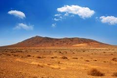 Ajaches mountain in Lanzarote Punta Papagayo Stock Image