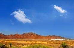 Ajaches mountain in Lanzarote Punta Papagayo Royalty Free Stock Image