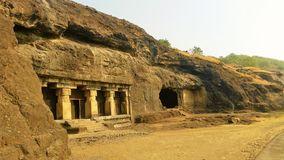 Ajanta洞,印度 免版税图库摄影