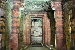 Ajanta buddhist caves Stock Photography