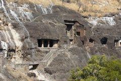 Ajanta cava perto de Aurangabad, estado do Maharashtra na Índia Imagem de Stock