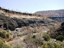 Ajanta caves. View over the ajanta caves, aurangabad, india Stock Image