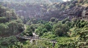 Ajanta caves stock image