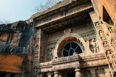 Ajanta Caves in India. Ajanta Caves UNESCO World Heritage Site in India stock photography