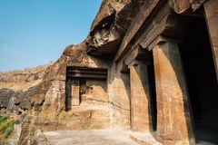 Ajanta Caves in India. Ajanta Caves UNESCO World Heritage Site in India stock photo
