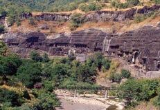 Ajanta Caves, Maharashtra state in India royalty free stock photography