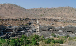 Ajanta caves near Aurangabad, Maharashtra state in India. amazin Royalty Free Stock Photography