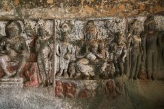 Ajanta Caves in India. Ajanta Caves UNESCO World Heritage Site in India stock photos
