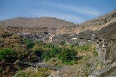 Ajanta foudroie près d'Aurangabad, état de maharashtra dans l'Inde photos libres de droits