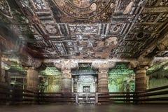 Ajanta grottor, Indien Arkivfoton