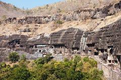Ajanta grottor, Indien Arkivfoto