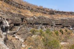Ajanta holt dichtbij Aurangabad uit stock foto's