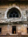 Ajanta, India: tempie buddisti antiche stupefacenti fotografia stock libera da diritti