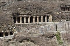 ajanta starożytne buddyjskie świątynie rockowe obraz stock
