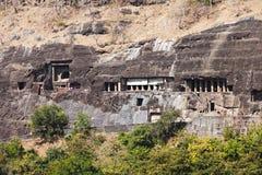 Ajantaholen, India royalty-vrije stock afbeeldingen
