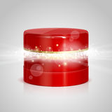 Ajar box for cosmetics with surprise inside Royalty Free Stock Photography