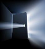 Ajar door light beam concept Royalty Free Stock Image