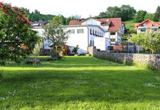 Ajardina em uma cidade, Francoforte, Alemanha Imagem de Stock