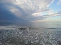 Ajardina o mar de adriático Albânia dos pores do sol Imagens de Stock