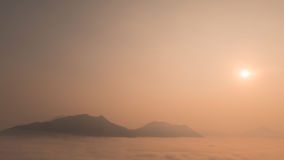 ajardina o por do sol da natureza em Tailândia Fotografia de Stock