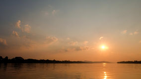 ajardina o por do sol da natureza em Tailândia Imagens de Stock