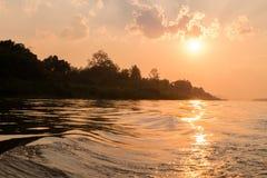 ajardina o por do sol da natureza em Tailândia Fotos de Stock Royalty Free