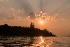 ajardina o por do sol da natureza em Tailândia Foto de Stock Royalty Free