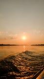 ajardina o por do sol da natureza em Tailândia Imagens de Stock Royalty Free