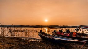 ajardina o por do sol da natureza em Tailândia Imagem de Stock Royalty Free