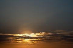 Ajardina o por do sol do céu da natureza Fotografia de Stock Royalty Free