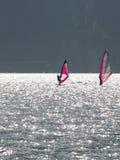 Ajardina a série - lago do garda - ressaca Fotografia de Stock