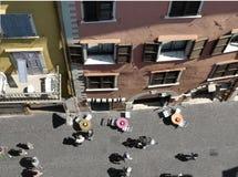 Ajardina a série - rua em Italy Foto de Stock