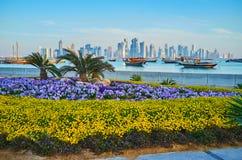 Ajardinando em Doha, Catar Imagem de Stock