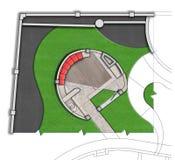 Ajardinando esboço do plano diretor do pátio o 2D Fotos de Stock Royalty Free
