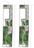 Ajardinando o plano de desenvolvimento do local, 2D esboço Imagem de Stock