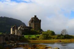 Ajardinar bonito em Eilean Donan Castle Imagem de Stock