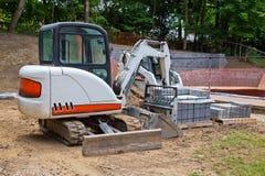 Ajardinar da construção do quintal Fotografia de Stock