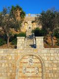 Ajardinar de pedra formal, Grécia Fotografia de Stock Royalty Free