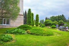 Ajardinar do jardim botânico Siberian central Novosibirs Fotografia de Stock