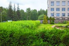 Ajardinar do jardim botânico Siberian central Novosibirs Foto de Stock Royalty Free