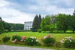 Ajardinar do jardim botânico Siberian central Novosibirs Fotos de Stock