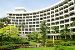 Ajardinar do jardim do hotel Imagem de Stock Royalty Free