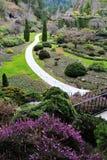 Ajardinar do jardim Sunken Fotos de Stock
