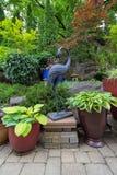 Ajardinar do projeto do japonês do quintal do jardim Imagem de Stock Royalty Free