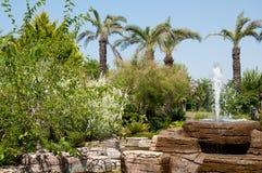 Ajardinar - fonte e lagoa de pedra Foto de Stock