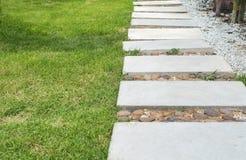 Ajardinar no jardim verde Caminho no parque Imagens de Stock Royalty Free