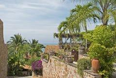 Ajardinar residencial nos trópicos Imagens de Stock