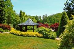 Ajardinar verde do pavilhão do jardim Imagem de Stock Royalty Free