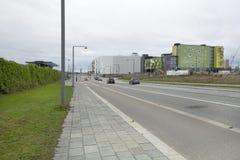 Ajardinar vertical com a hera ao longo da parede da linha da terra em Copenhaga Fotos de Stock Royalty Free